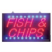 Static Red/blue/ Fish & Chips LED Sign (LED23)